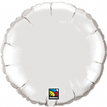 "Silver Round Foil Balloon (36"") 1pc"